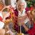 família · feliz · natal · retrato · filho · pai · papai · noel - foto stock © lightfieldstudios