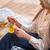 senior · vrouw · drinken · thee · vergadering · fauteuil - stockfoto © lightfieldstudios