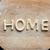 top view of edible lettering home made from cookies on wooden cutting board baking cookies concept stock photo © lightfieldstudios