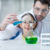 teacher and student scientists in protective glasses working in chemical lab stock photo © lightfieldstudios
