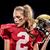 vonzó · nő · amerikai · futballista · közelkép · portré · egyenruha - stock fotó © lightfieldstudios
