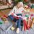 vrouw · presenteert · vloer · home · haard - stockfoto © lightfieldstudios