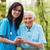 idős · törődés · nővér · együtt · idős · nő · kórházak - stock fotó © Lighthunter
