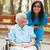 gelukkig · senior · dame · rolstoel · verzorger · vrouw - stockfoto © lighthunter