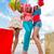 amigos · compras · mujeres · excitado · feliz · gritando - foto stock © lighthunter