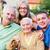семьи · пожилого · Lady · сидят · сын · внучка - Сток-фото © lighthunter