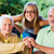 kind family visiting elderly lady stock photo © lighthunter