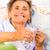 idős · ivóvíz · örömteli · hölgy · elvesz · gyógyszer - stock fotó © Lighthunter
