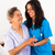 nurses caring for elderly patients stock photo © lighthunter