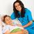 gondoskodó · nővérek · idős · betegség · öregek · otthona · mosoly - stock fotó © Lighthunter