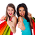 笑顔の女性 · ショッピングバッグ · 小売 · ジェスチャー - ストックフォト © lighthunter