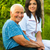 smiling elderly woman outdoors with doctor nurse stock photo © lighthunter