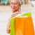 loiro · bolsa · de · compras · branco · mulher · moda - foto stock © lighthunter