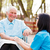 doctor nurse talking with kind lady stock photo © lighthunter