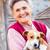 エキセントリック · 女性 · ペット · 子犬 - ストックフォト © lighthunter