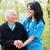 ancianos · dama · visitantes · feliz · paciente · médico - foto stock © lighthunter