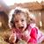 blijde · meisje · hooi · lachend · meisje - stockfoto © Lighthunter