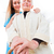 senior · vrouw · verzorger · geïsoleerd · gelukkig · home - stockfoto © lighthunter