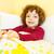 mutlu · çocuk · yatak · kız - stok fotoğraf © Lighthunter