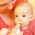 anne · burun · sprey · tedavi · bebek - stok fotoğraf © Lighthunter