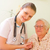 hospital · idoso · paciente · jovem · médico · confirmação - foto stock © lighthunter
