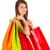 compras · bonitinho · menina · isolado - foto stock © Lighthunter