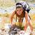 Woman Climbing Mountain stock photo © Lighthunter