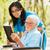 пожилого · Lady · коляске · чтение · улице · Библии - Сток-фото © lighthunter