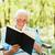 belo · senior · senhora · cadeira · de · rodas · primavera · dia - foto stock © lighthunter