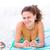 nő · fektet · tengerpart · napozás · napozás · nők - stock fotó © lighthunter