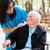 médico · enfermeira · falante · senhora · ao · ar · livre - foto stock © lighthunter