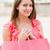 Shopping · femme · rose · sac · cute · fille - photo stock © lighthunter