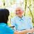 смеясь · медсестры · говорить · пациент · дом · престарелых · женщину - Сток-фото © lighthunter