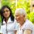 enfermera · chat · altos · mujer · asilo · de · ancianos · hombre - foto stock © lighthunter