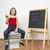 女学生 · 手 · 座って · 教室 · 肖像 · 図書 - ストックフォト © lighthunter