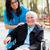 sorridente · senhora · cadeira · de · rodas · feliz · idoso · paciente - foto stock © lighthunter