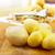 hámozott · krumpli · otthon · asztal · tányér · bőr - stock fotó © lighthunter