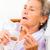 gyógyszer · idős · idős · nő · ágy · orvos · nők - stock fotó © Lighthunter