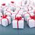 Noël · présente · réfléchissant · surface · boîte · groupe - photo stock © lightkeeper