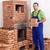 profissional · trabalhador · edifício · alvenaria · aquecedor - foto stock © lightkeeper