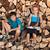 gyerekek · ül · boglya · tűzifa · pihen · mosolyog - stock fotó © lightkeeper