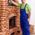 trabalhador · edifício · alvenaria · aquecedor · porta · massa - foto stock © lightkeeper