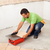 Man cutting ceramic floor tile stock photo © lightkeeper
