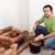 alvenaria · trabalhador · edifício · lareira · rústico · tradicional - foto stock © lightkeeper