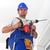 работник · власти · дрель · Постоянный · лестнице · инструментом - Сток-фото © lightkeeper