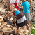 gyerekek · segít · apa · boglya · aprított · tűzifa - stock fotó © lightkeeper