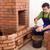 edifício · alvenaria · aquecedor · construção · trabalhador · fogo - foto stock © lightkeeper