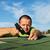 man installing bitumen roof shingles stock photo © lightkeeper