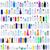 szín · műanyag · díszállat · üvegek · izolált · fehér - stock fotó © lightkeeper