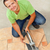 man laying ceramic floor tiles   cutting one piece stock photo © lightkeeper